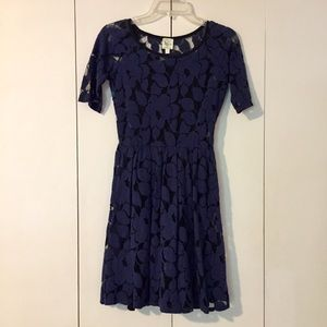 Anthropologie Floral + Lace Dress